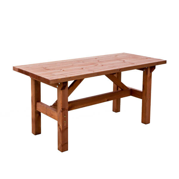 mesa rustica de madera madera artesanal estrucmader