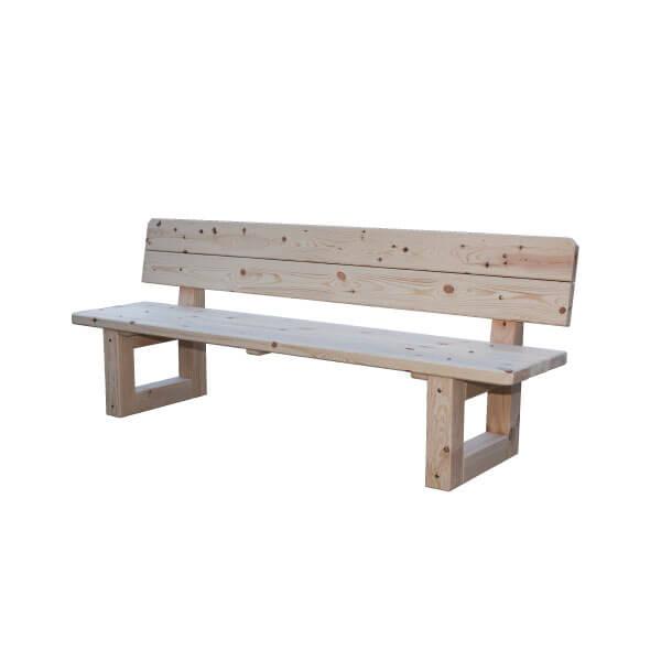 Comprar banco de madera banco natural madera de abeto for Mesa banco madera jardin
