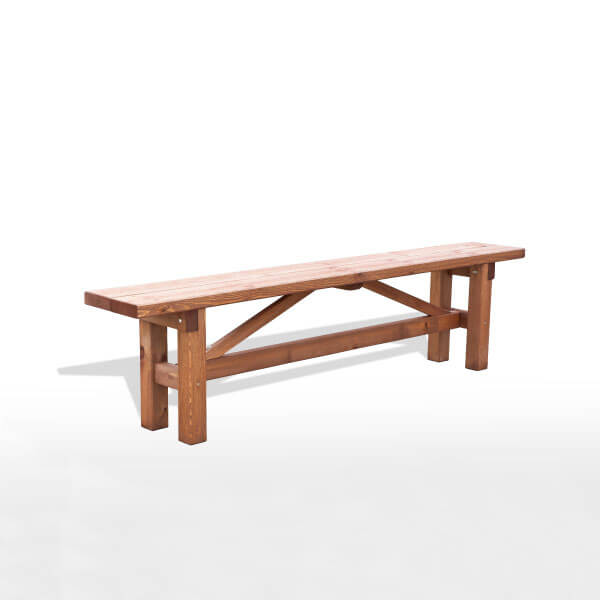 Banco r stico de madera madera artesanal estrucmader for Bancos de jardin rusticos