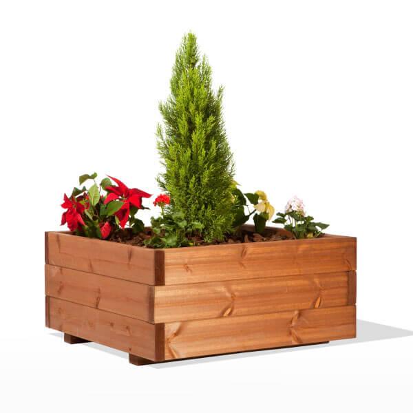 Macetero de madera madera artesanal estrucmader - Maceteros de madera para exterior ...