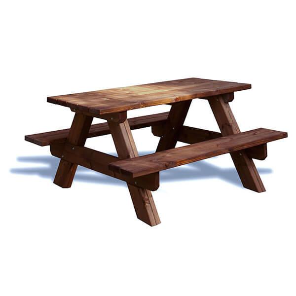 Mesa picnic de madera para jard n madera artesanal for Mesas de madera para jardin