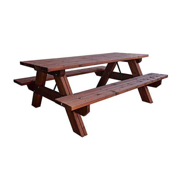 Mesa picnic de madera para jard n madera artesanal for Aki mesas jardin