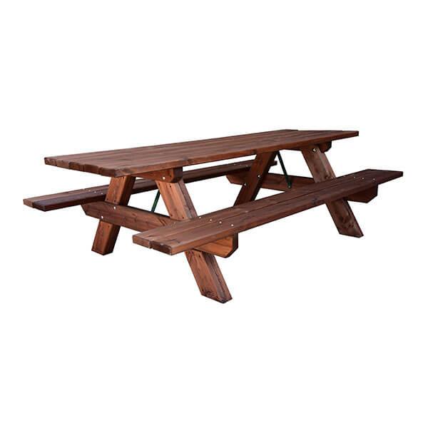 Mesa de madera para jardin mesa y banco de madera para for Mesa banco madera jardin