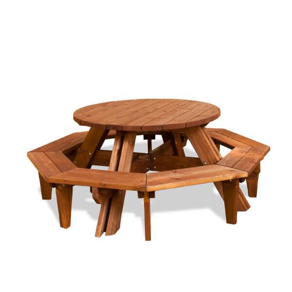 Mesa rustica de madera madera artesanal estrucmader - Mesas de madera para jardin ...