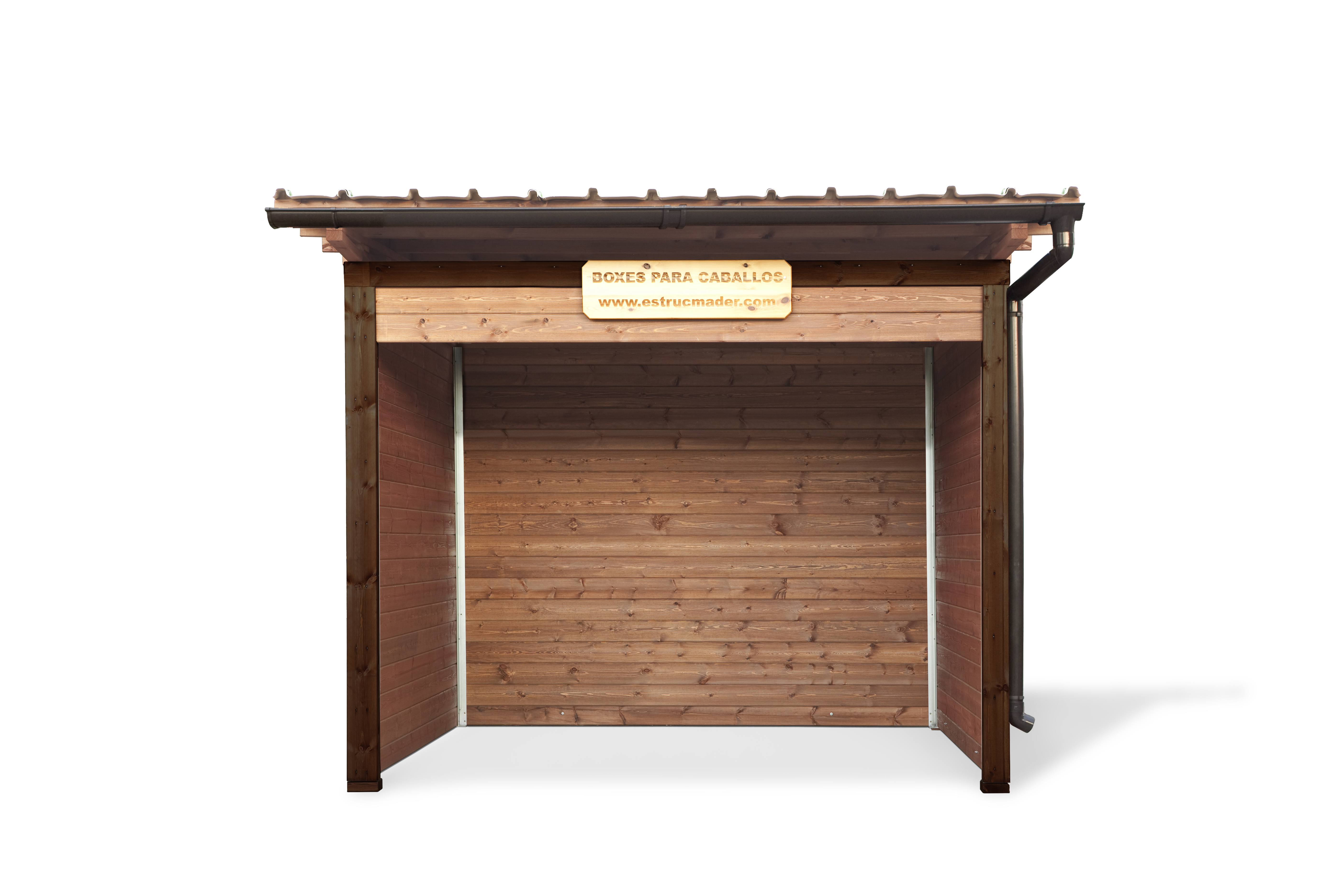 Cobertizo refugio troya deluxe madera estrucmader for Cobertizo de herramientas