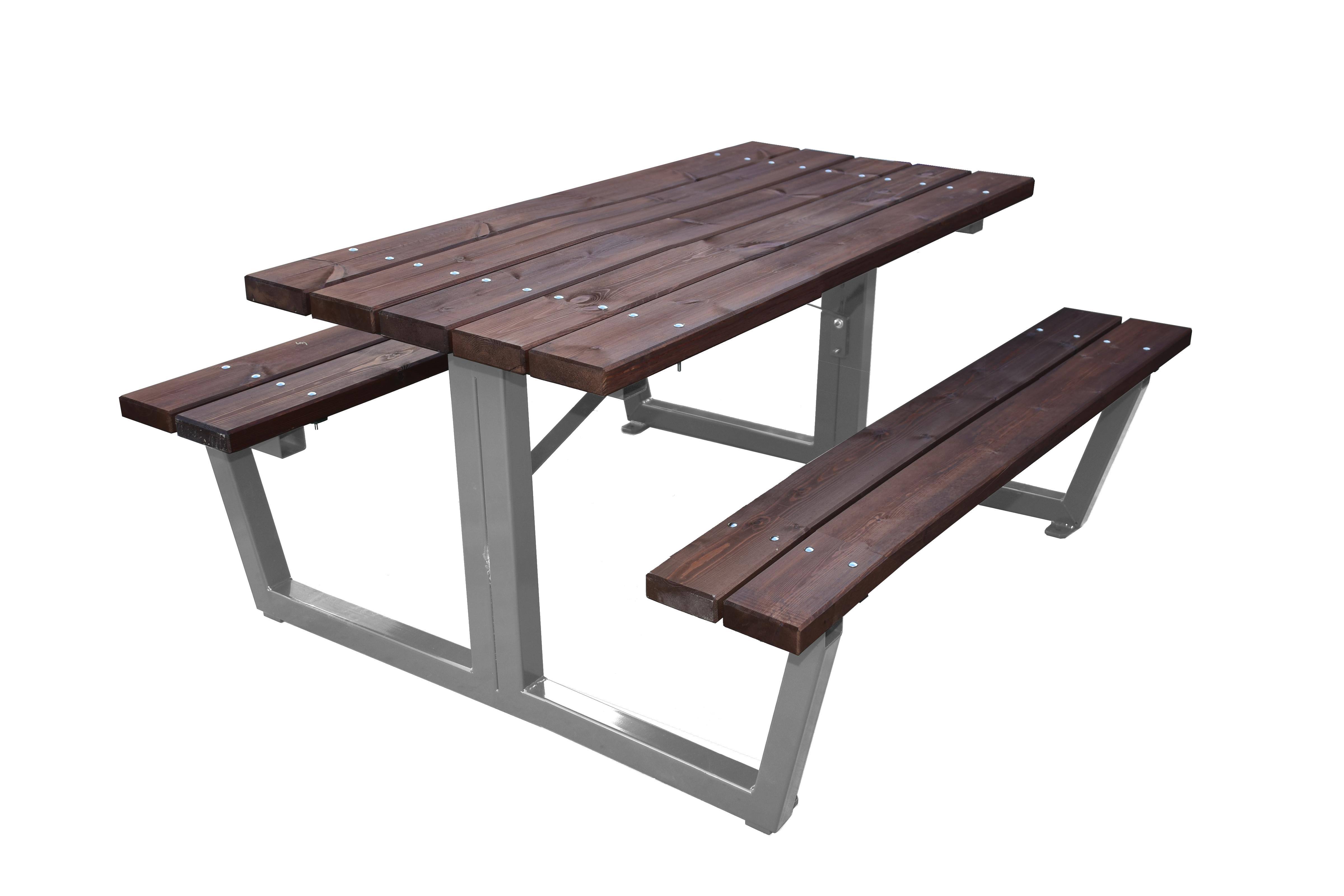 Mobiliario r stico de exterior tienda estrucmader - Mesas de madera de jardin ...