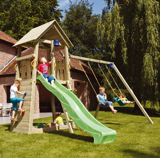 Parque infantil torre modelo belvedere estrucmader for Columpios infantiles