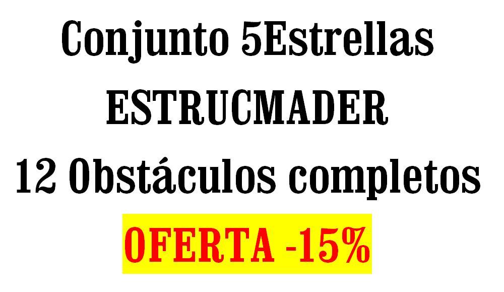 Conjunto Oferta saltos para equitación 5Estrellas ESTRUCMADER