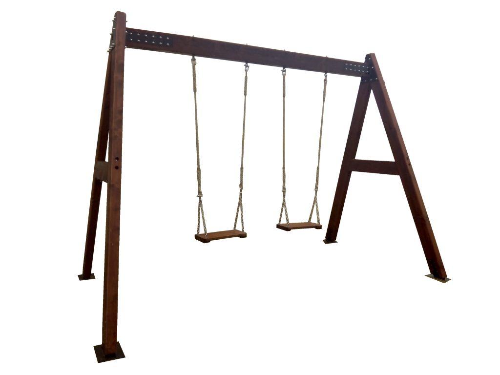 Columpio de madera para adultos estrucmader estrucmader - Columpio madera jardin ...