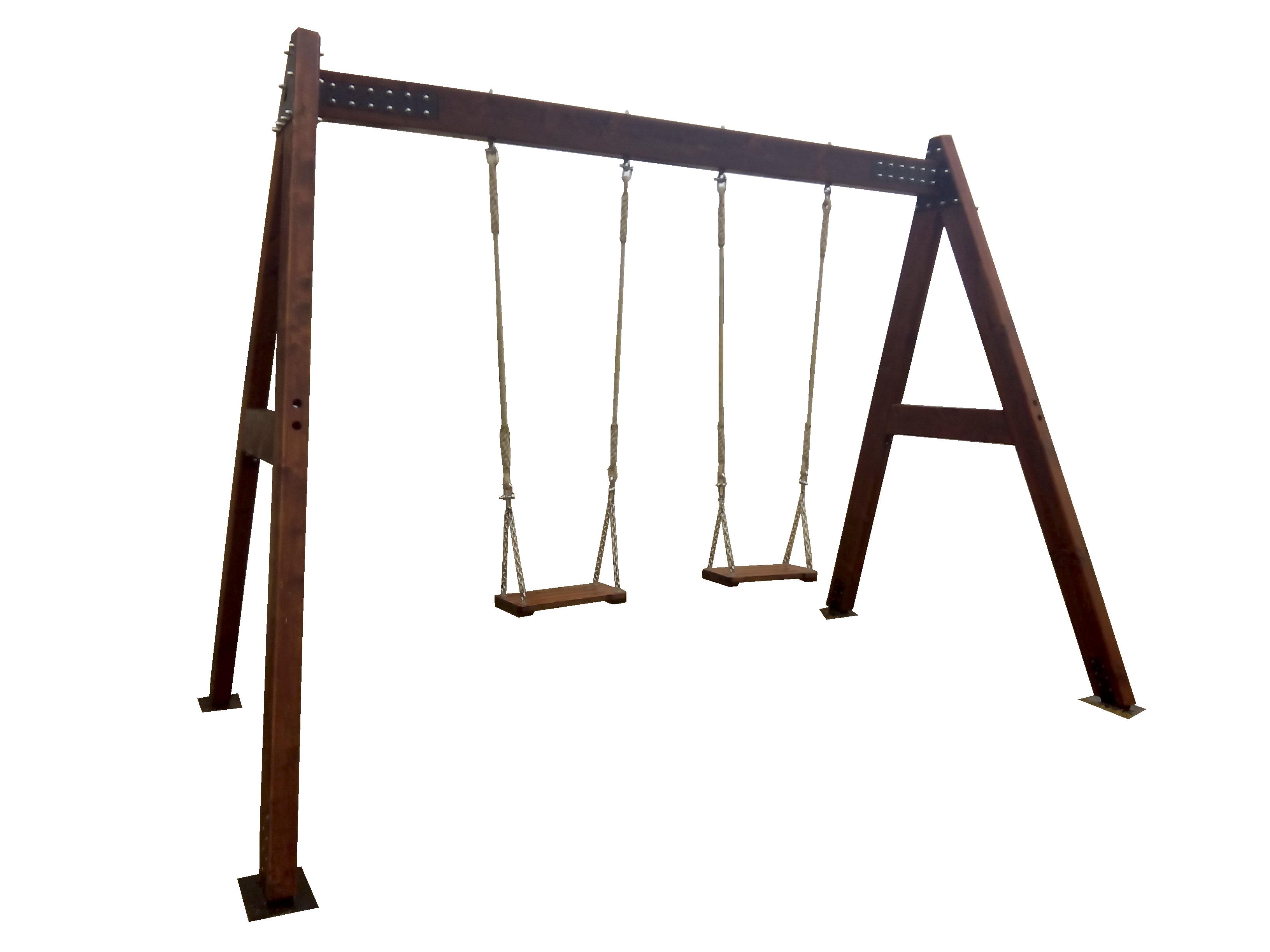 Columpio de madera para adultos estrucmader estrucmader - Columpios para ninos de madera ...