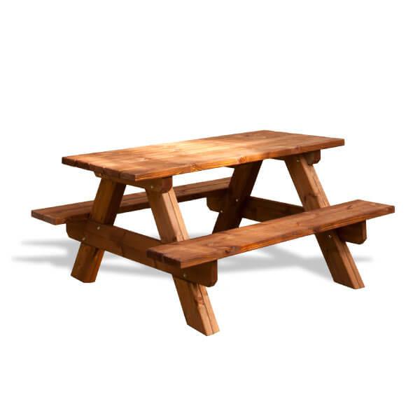 Mesa de pícnic de madera