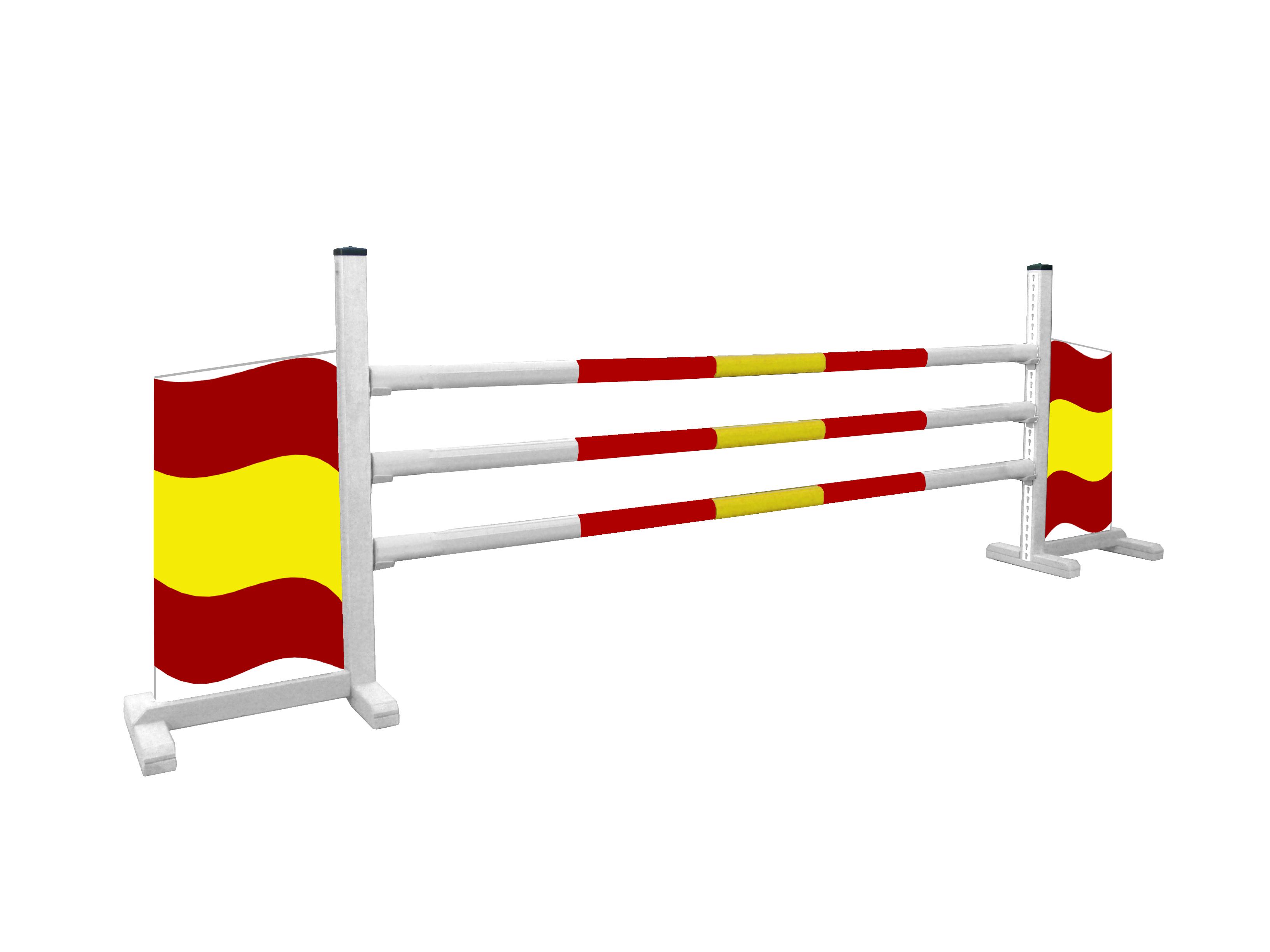 Obstáculo de Hípica para Caballos Modelo Bandera