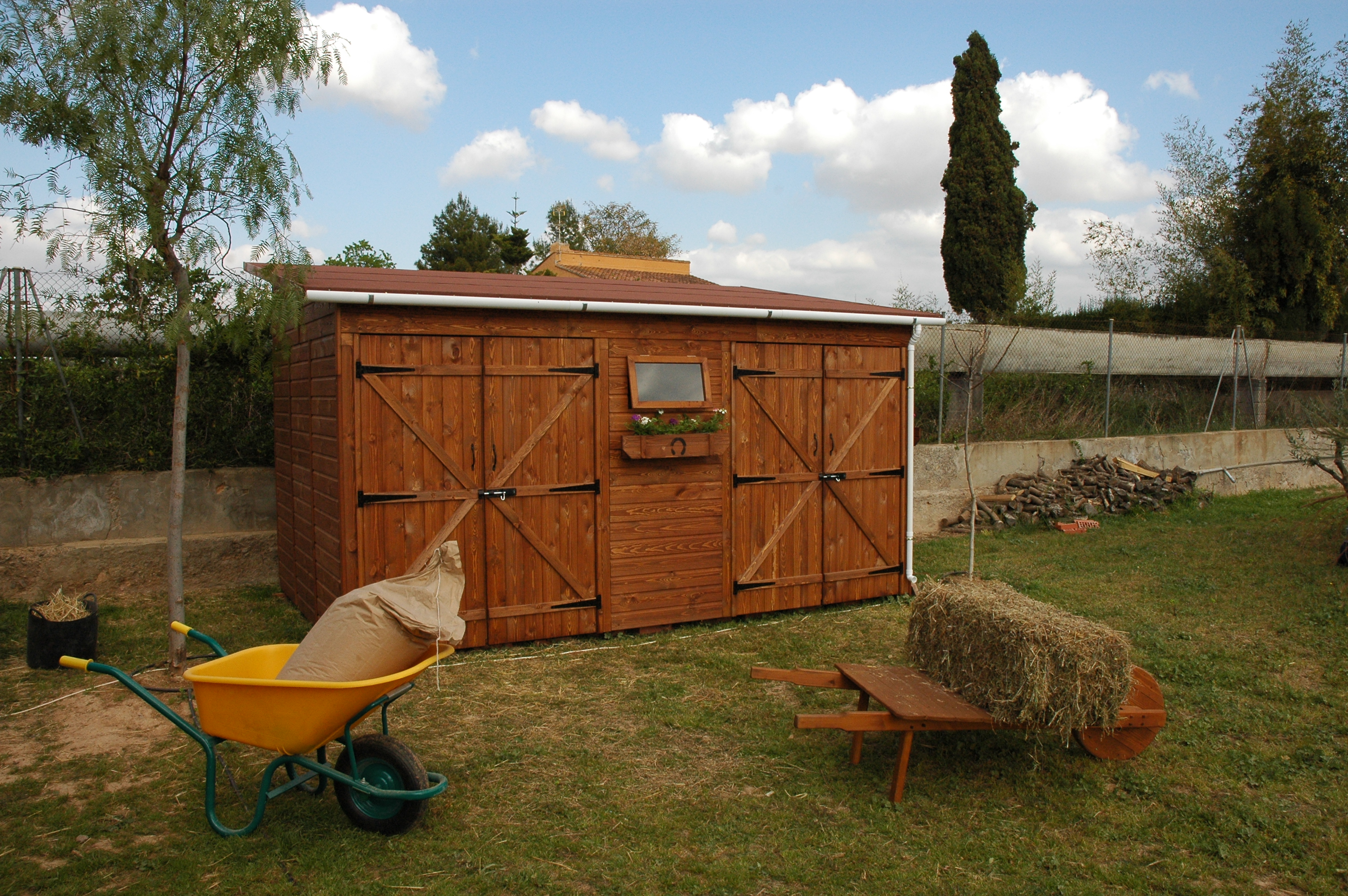Caseta de madera Garaje Trastero mod. Turia Doble