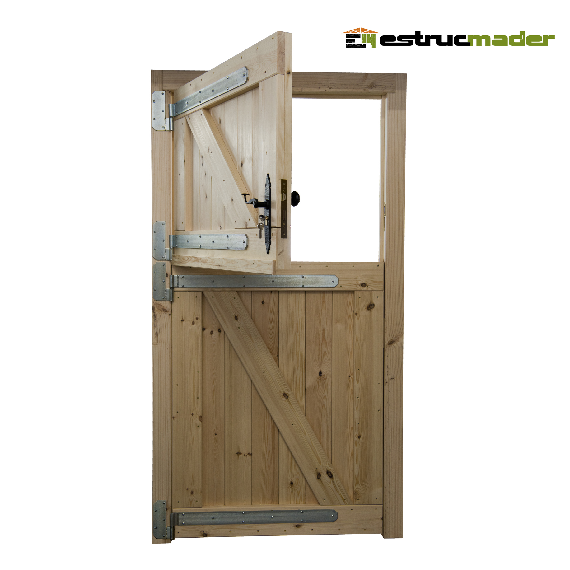 Portón rústico de madera para vivienda Modelo PRE