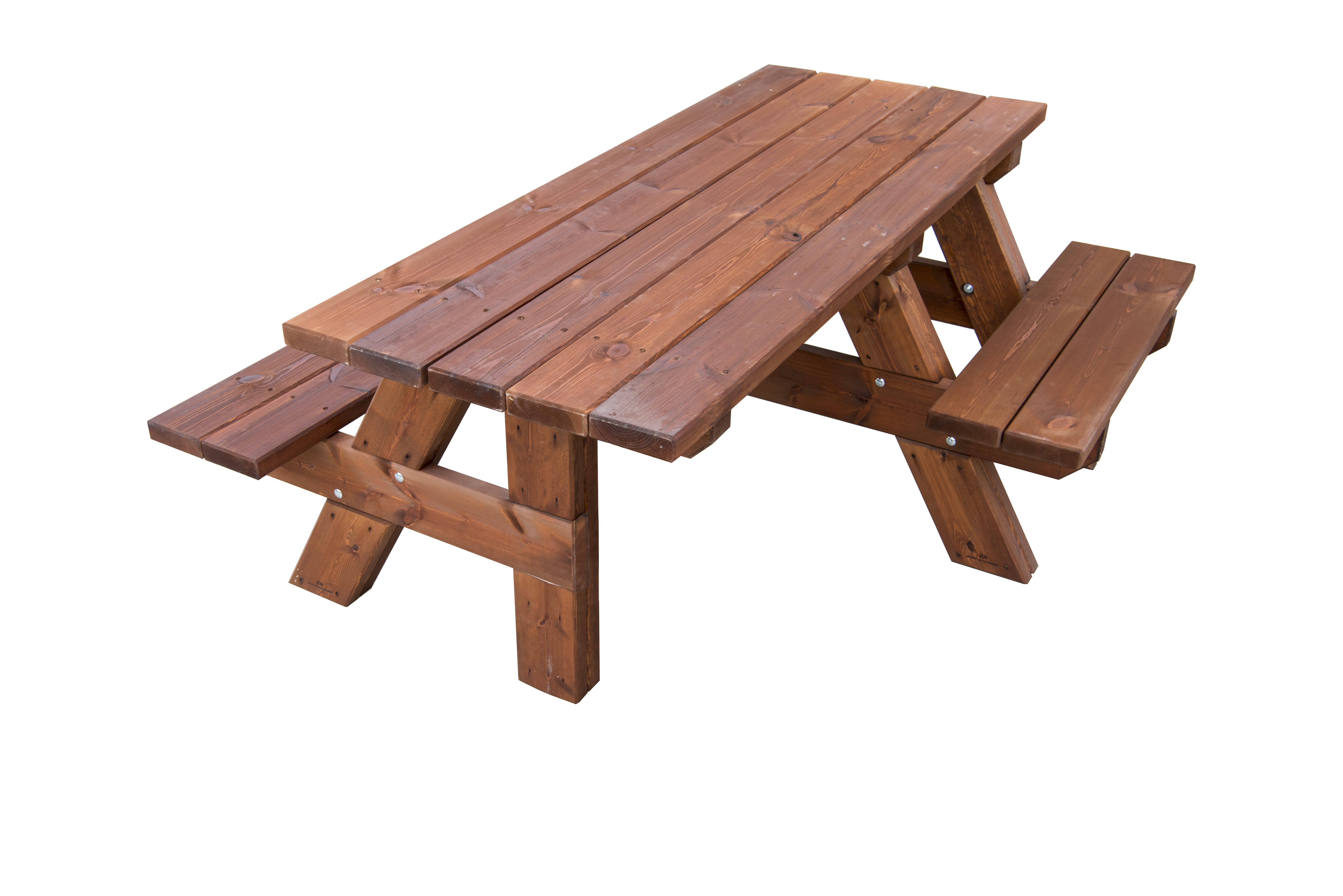 Mesa de picnic de madera maciza adaptada para silla de ruedas